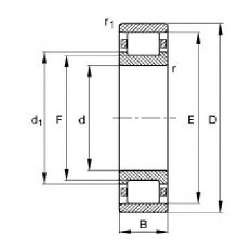 Rodamiento N308-E-TVP2 FAG