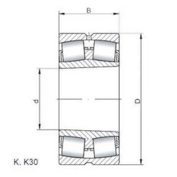 Rodamientos 23296 KW33 ISO