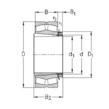 Rodamientos 232/500-K-MB-W33+OH32/500-H NKE